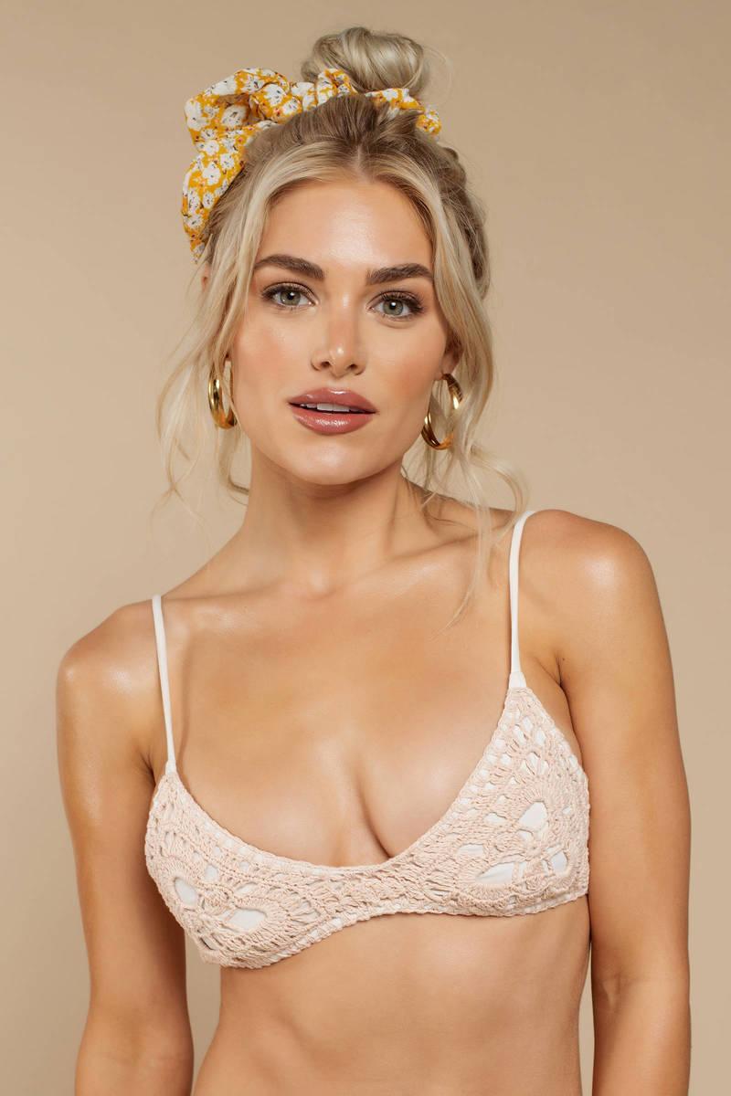 53e26e2d59e5c Rove Cleo Rose Crochet Bikini Top - $64   Tobi US