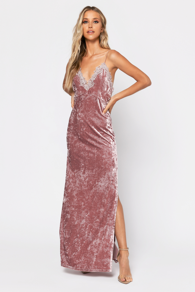a691d83b90497b Cute Rose Dress - High Slit Dress - Open Back Dress - $32 | Tobi US