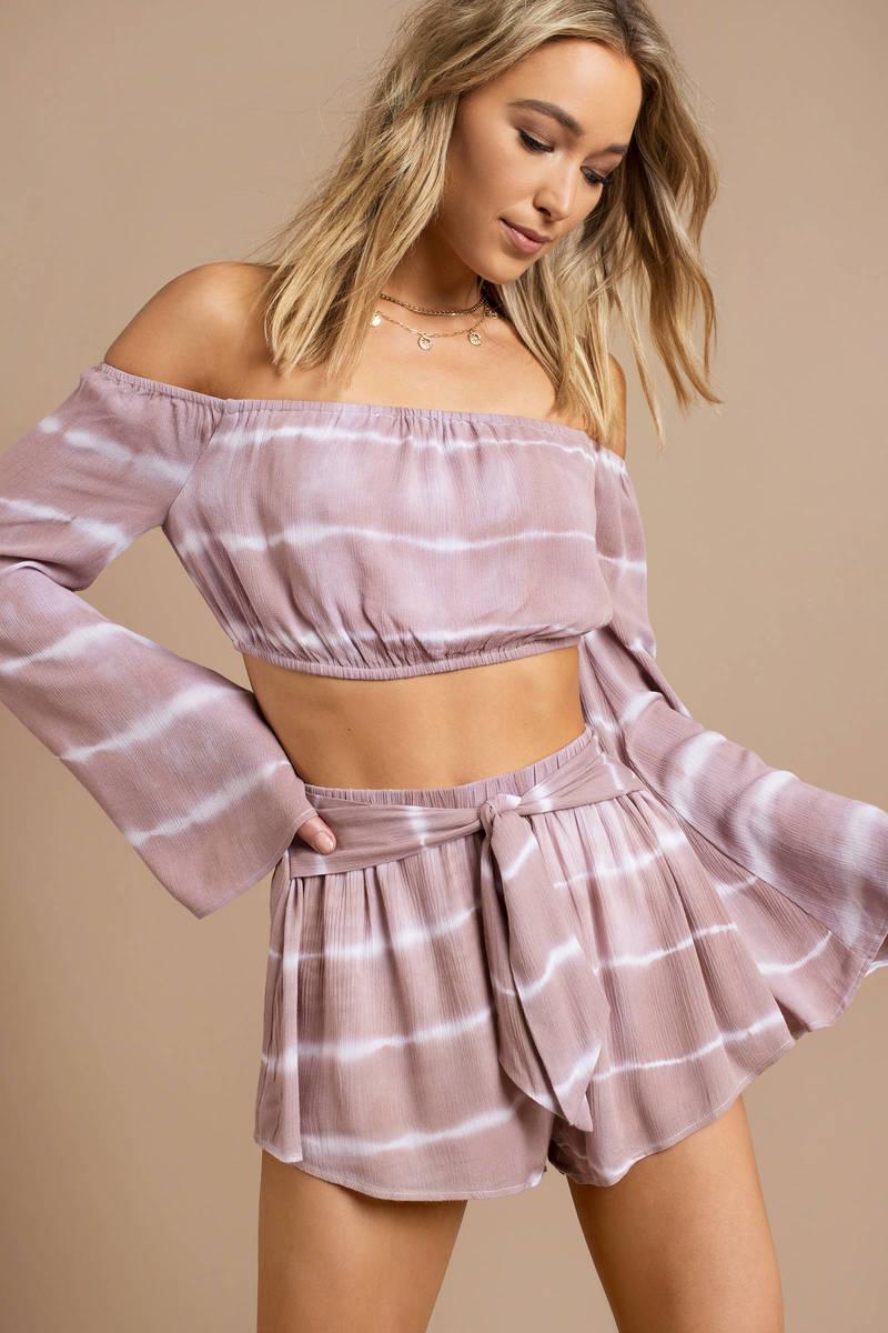 de6ffff3b6c2a Pink Crop Top - Tie Dye Crop Top - Pink Off Shoulder Top -  15