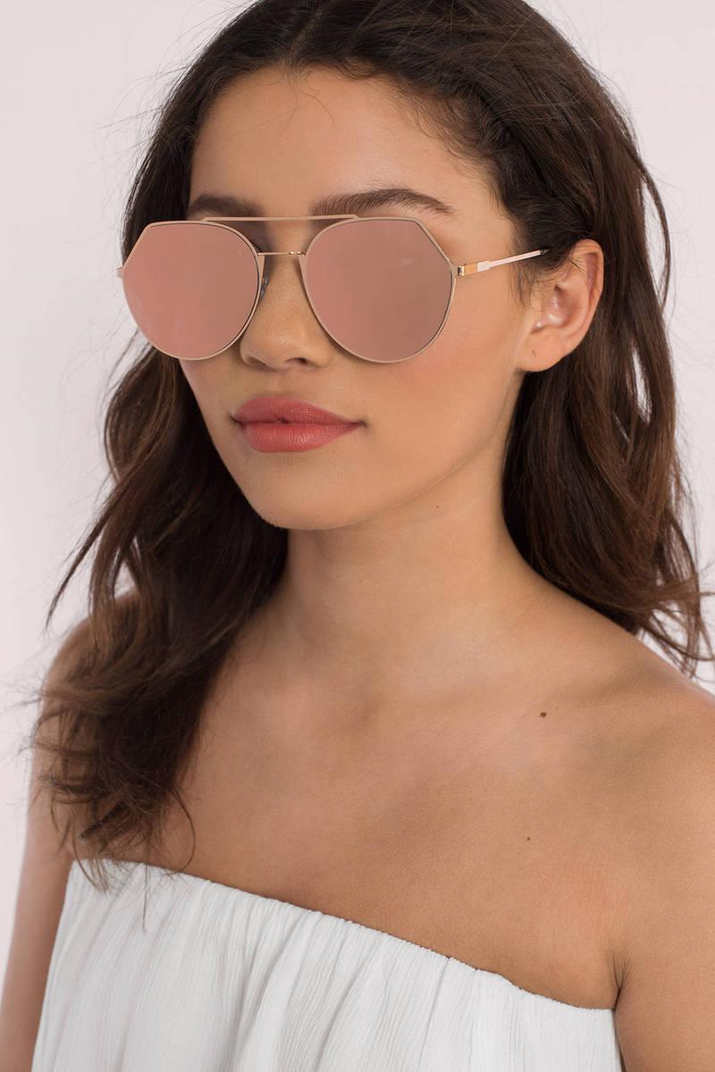 Chaos Rose Gold Sunglasses