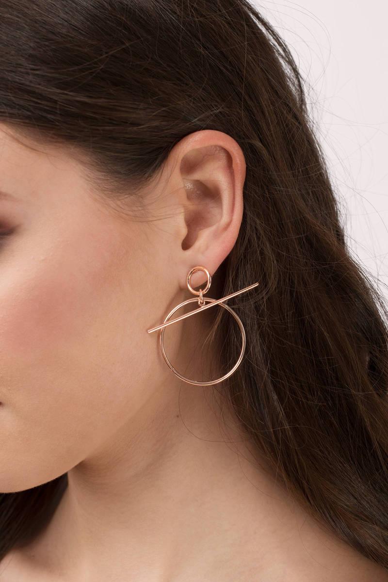 Izzy Rose Gold Bar Hoop Earrings