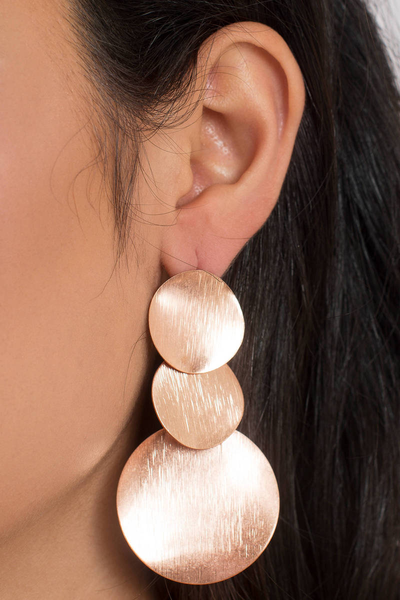 Olivia Rose Gold Statement Earrings