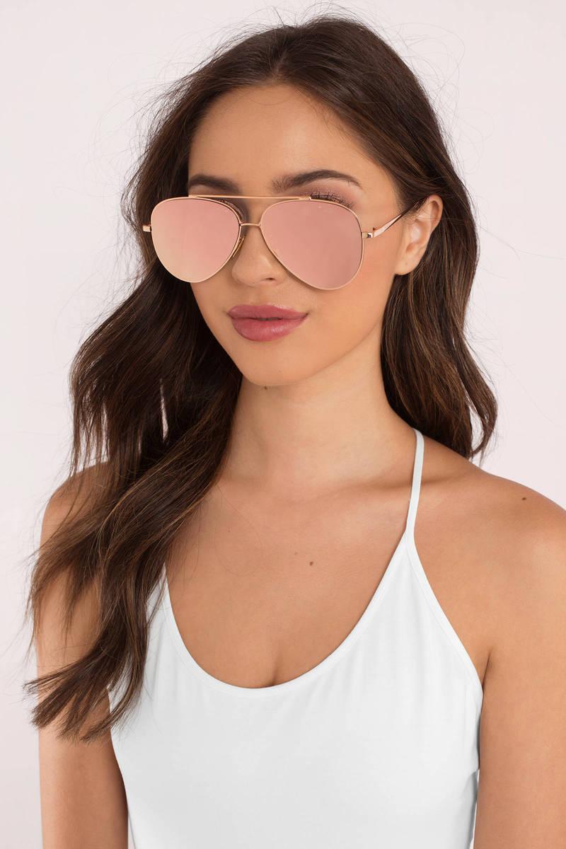 Perverse Sunglasses Perverse Toni Bologna Rose Gold Mirrored Sunglasses