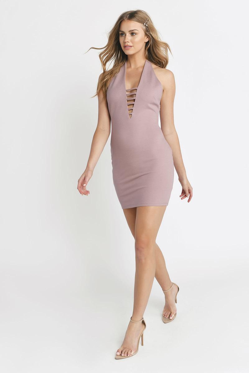 b1ee40615a15 Sexy Dress - Ladder Trim Dress - Plunging - Rose Dress - € 19   Tobi IE