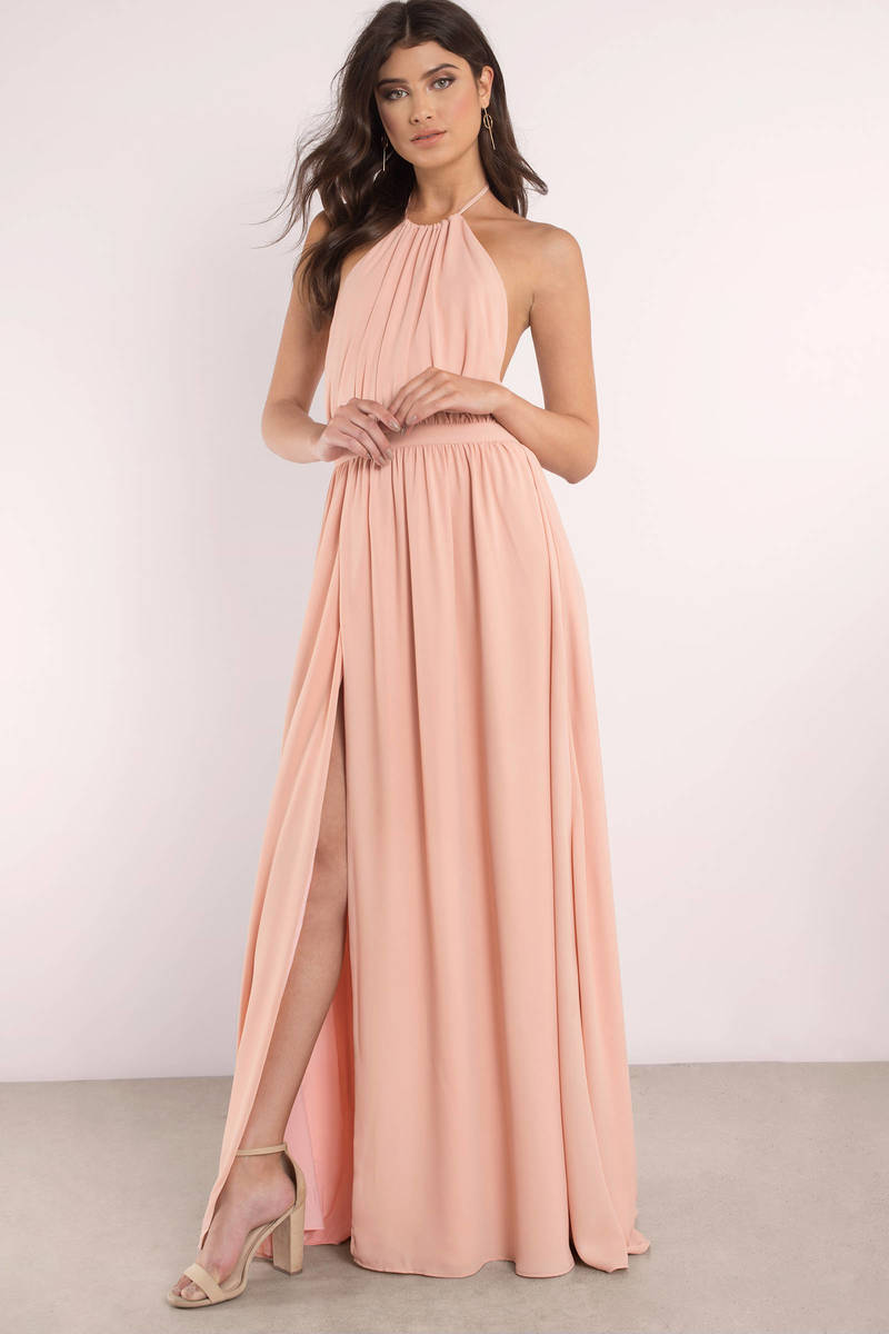 f9814d6ea17160 Cute Rose Dress - Backless Dress - Pink Sleeveless Maxi Dress -  32 ...
