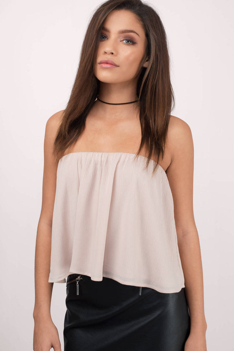 ac916ddfc92f1f Cute Rose Crop Top - Off Shoulder Top - Nude Top - Rose Crop Top - C ...