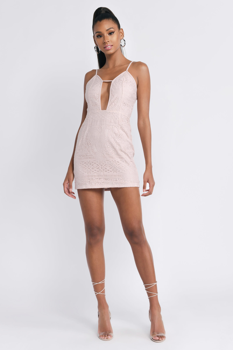 Out For The Day Rose Bodycon Dress