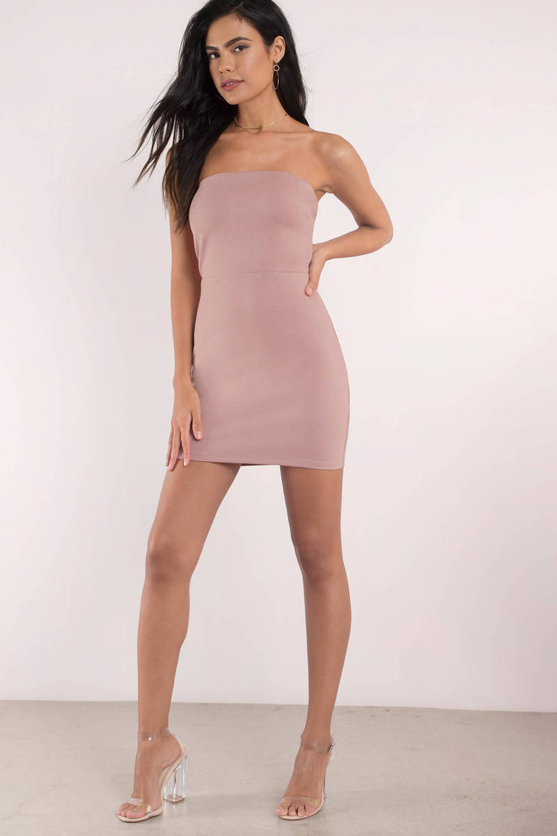 7c9ec5edc049 Cute Dress - Strapless Dress - Open Back - Rose Bodycon Dress - $15 ...