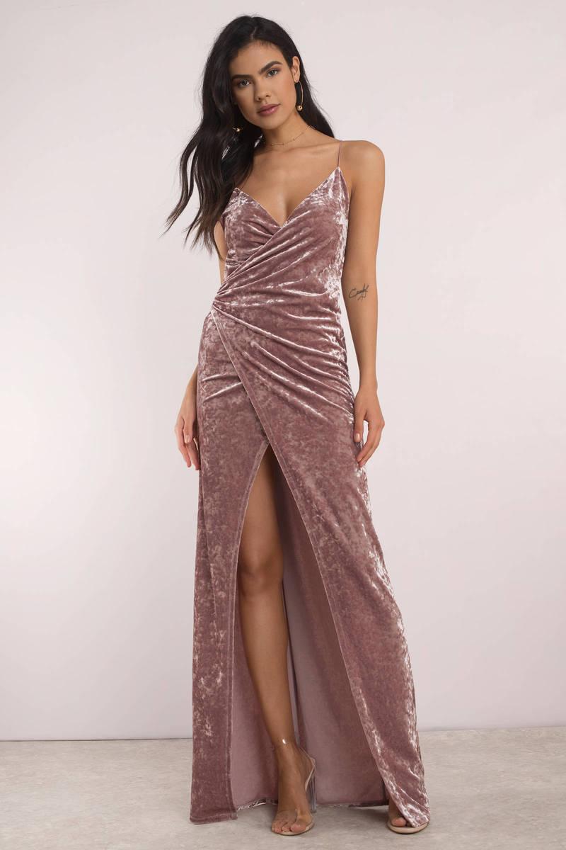 Sexy Pretty Pink Maxi Dress - Velvet Maxi Dress - Pink Gown -  24 ... 801e25b6a