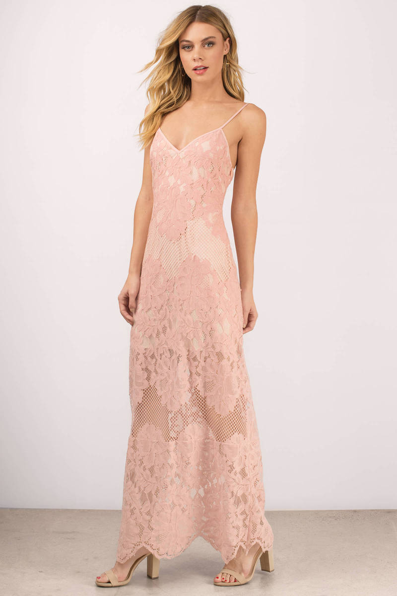 Wanderlust Rose Lace Maxi Dress