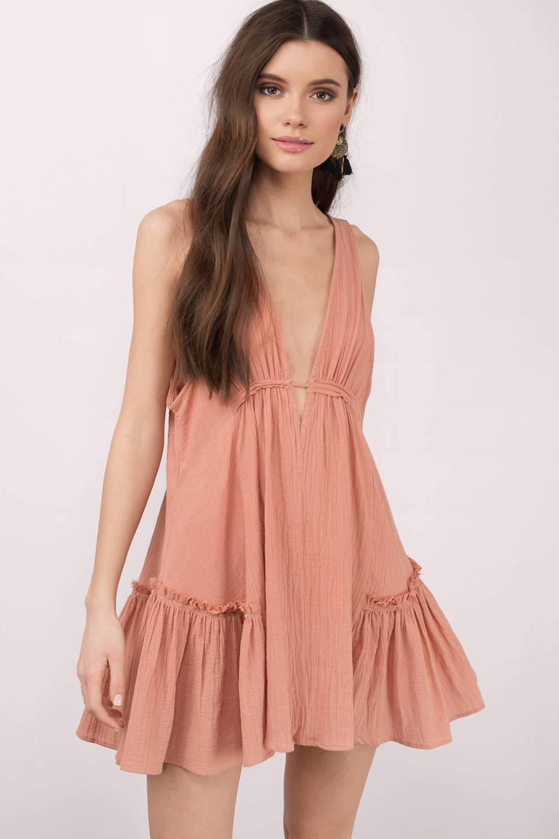 Hold It Together Rust Day Dress