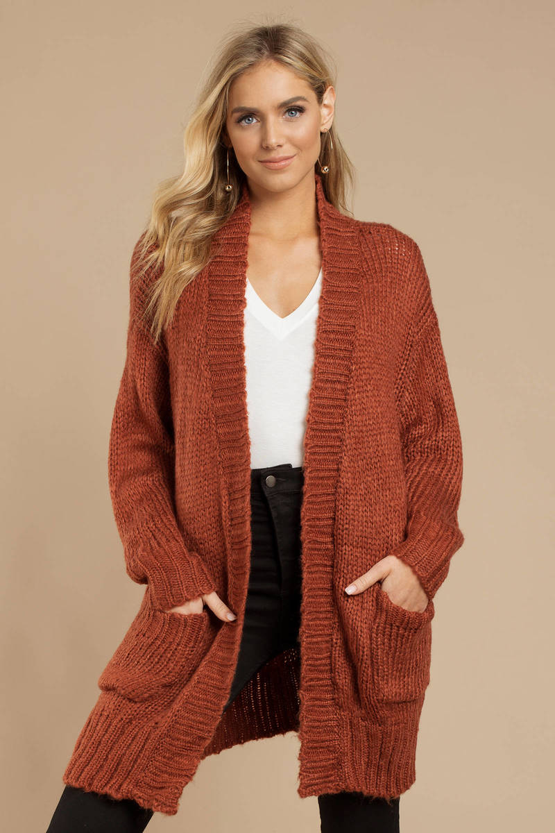 b947d8b2e63d Red Cardigan - Cable Knit Cardigan - Red Oversized Cardigan -  39 ...