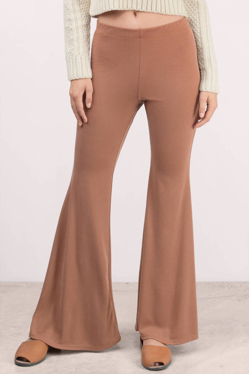 Kim Rust Bell Bottom Pants