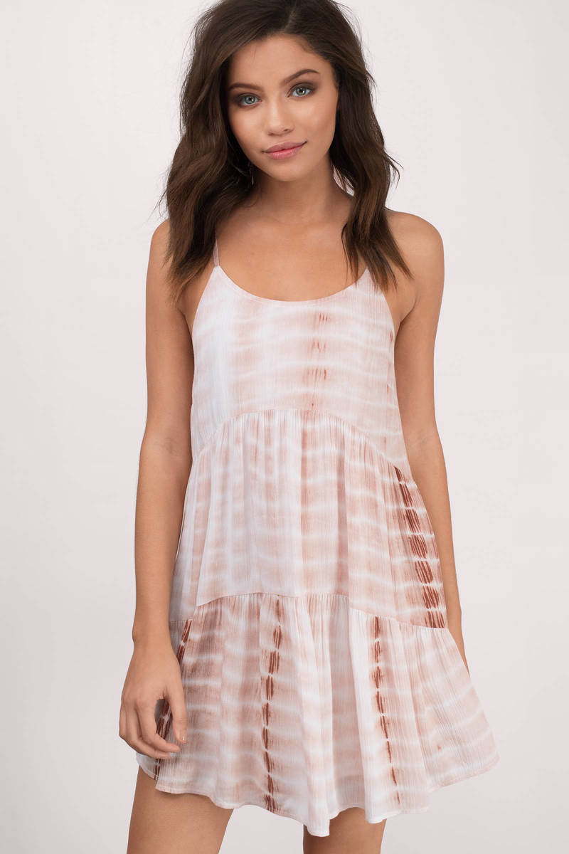 Kyla Rust Tie Dye Shift Dress