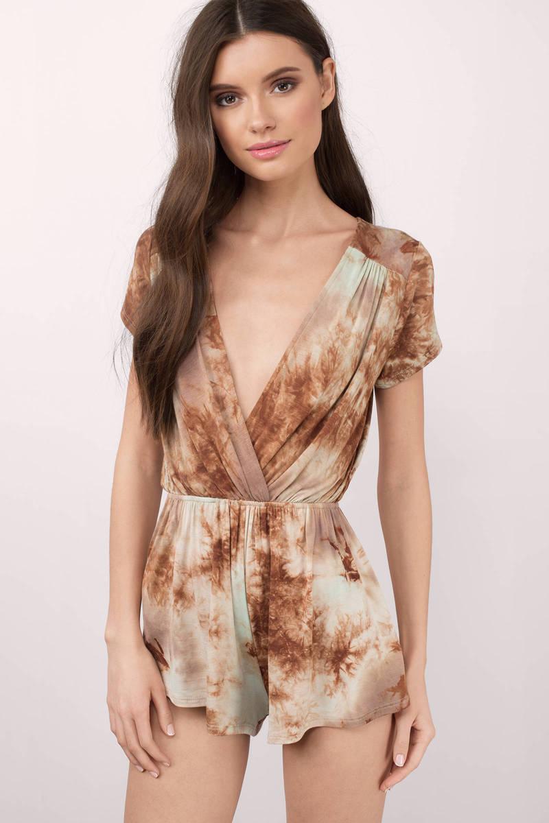 Annabel Rust Multi Tie Dye Romper