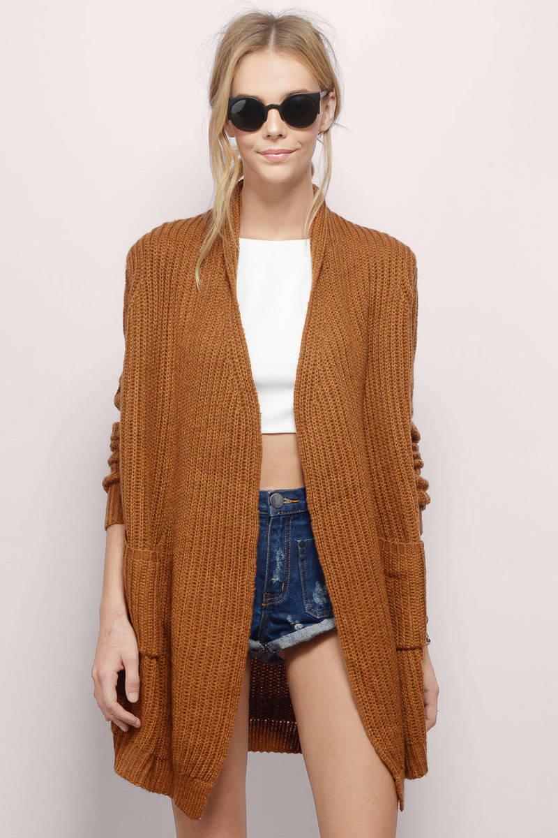 Burgundy Cardigan - Long Sleeve Cardigan - Burgundy Sweater - £19 ...
