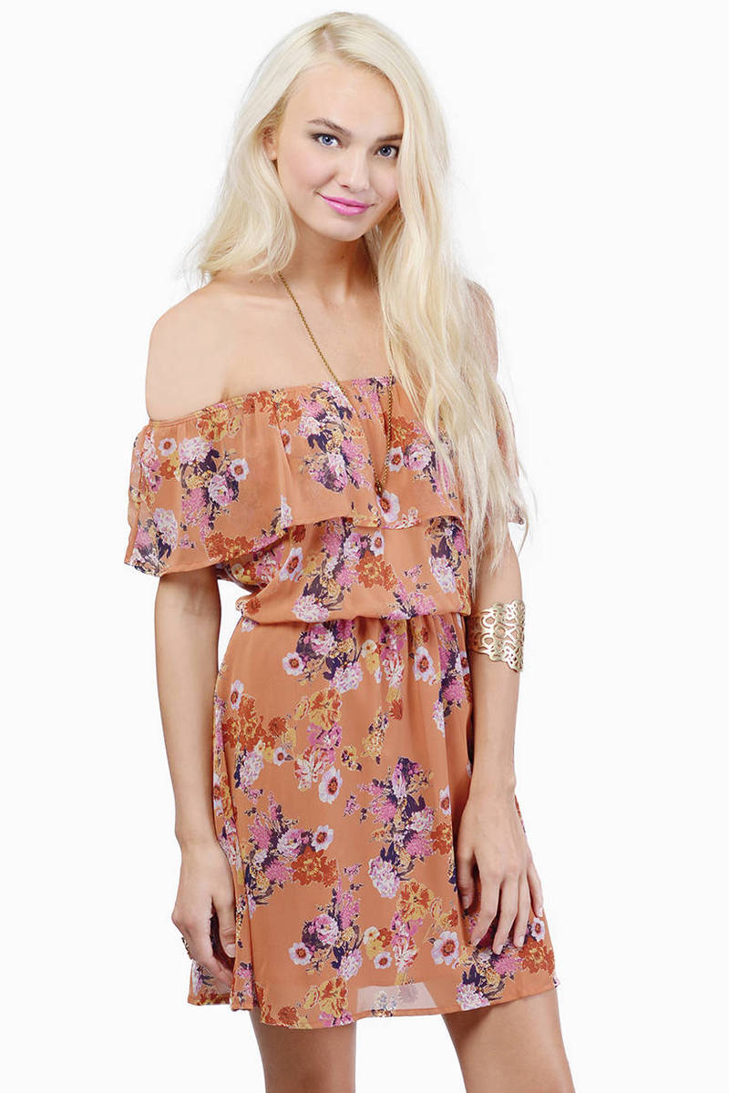 Tania Rust Floral Print Day Dress
