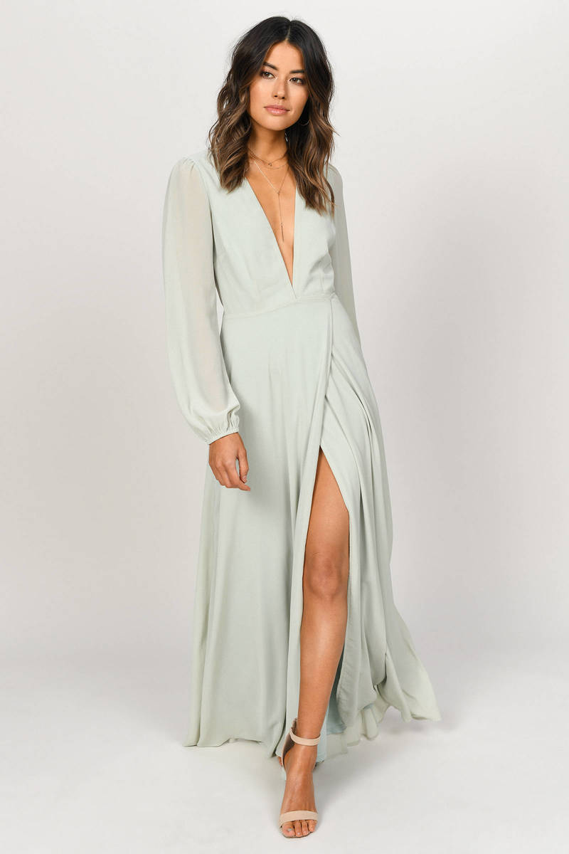 c630d0afb81 Cherish Me Sage Plunging Maxi Dress -  43