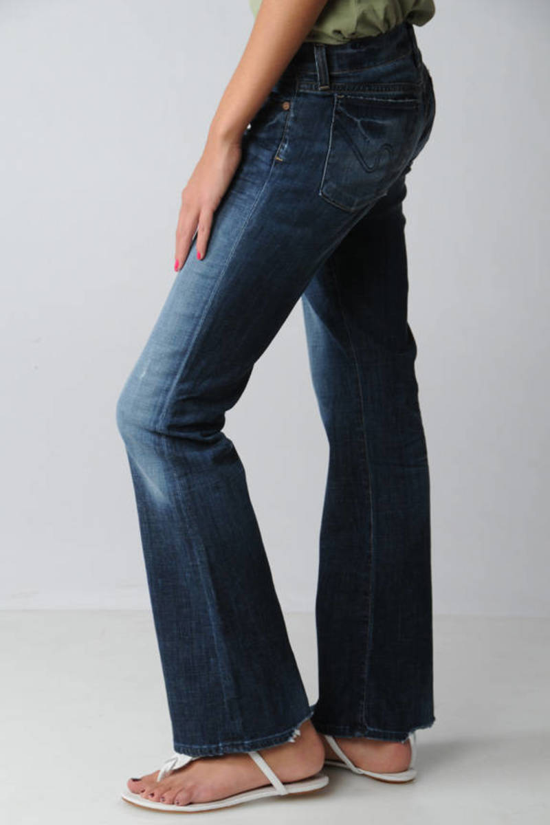 58667269bb4 Blue Citizens Of Humanity Jeans - Wide Leg Jeans - Blue Retro Jeans ...