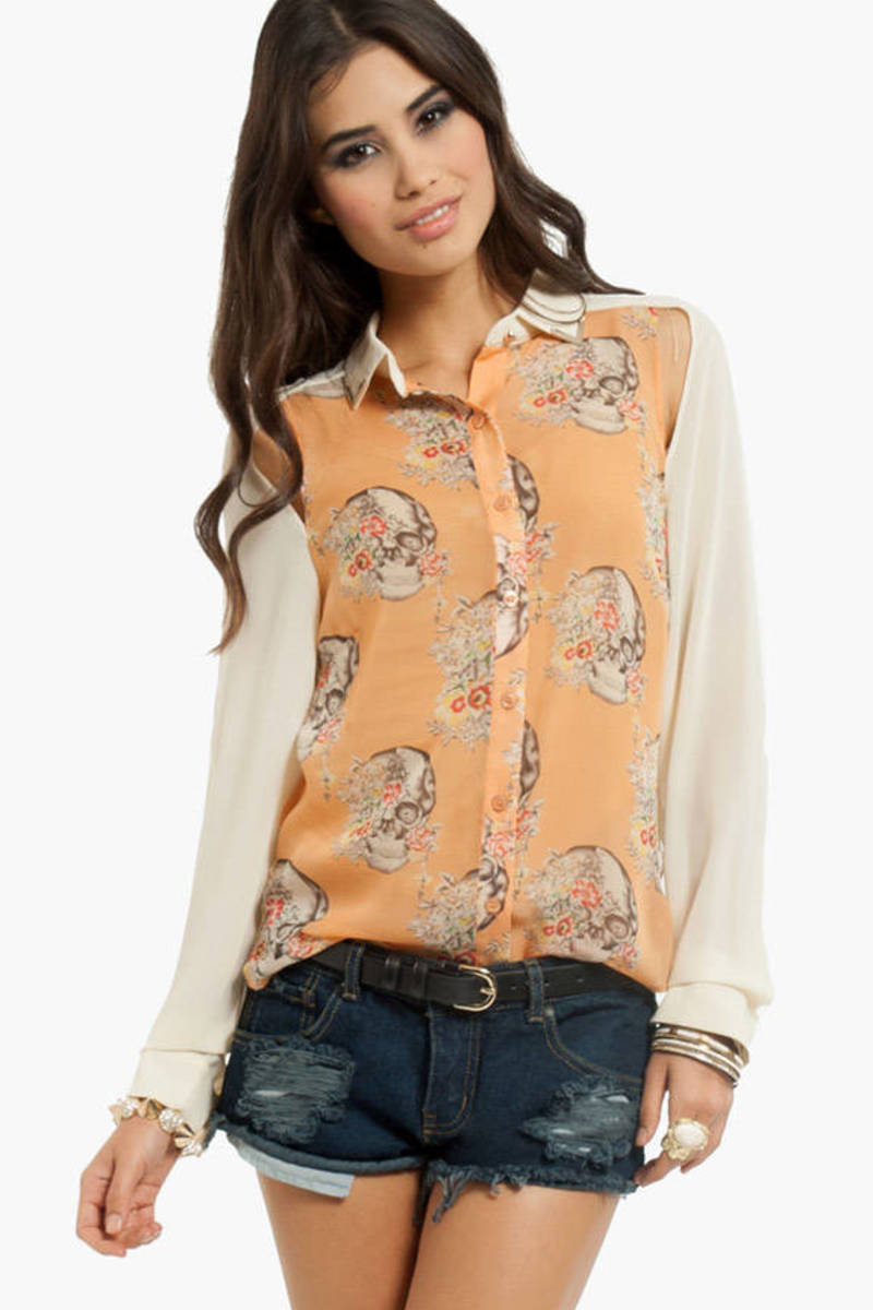 Tip to Tango Contrast Blouse