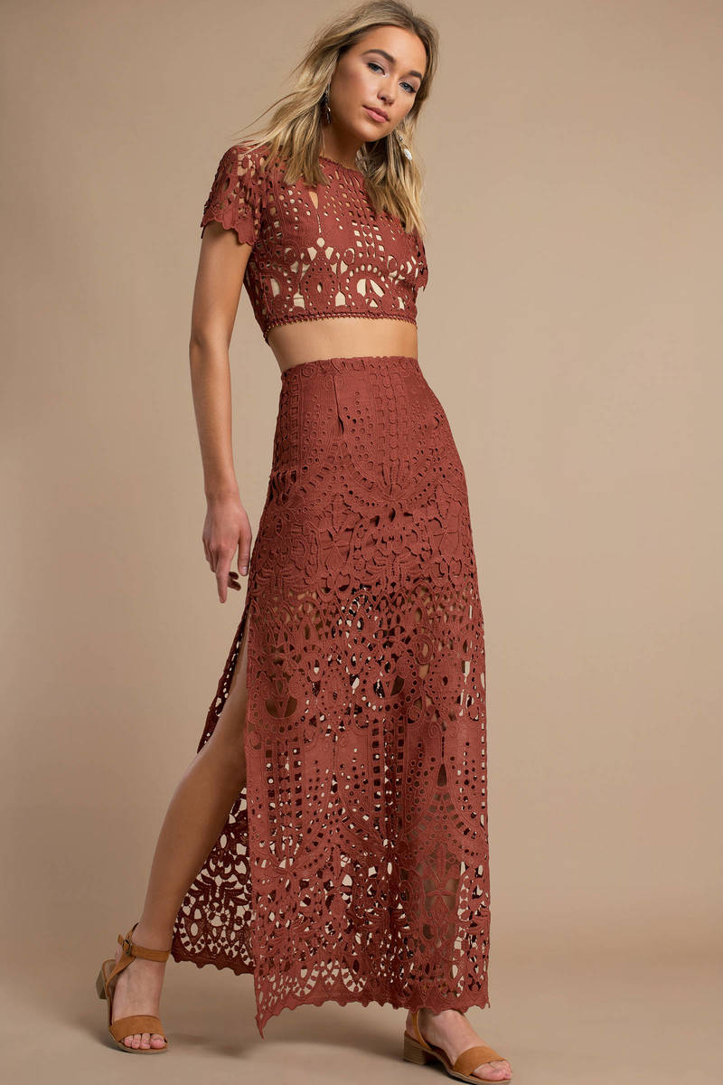 6bcc52d1abf Alice Lace Maxi Skirt