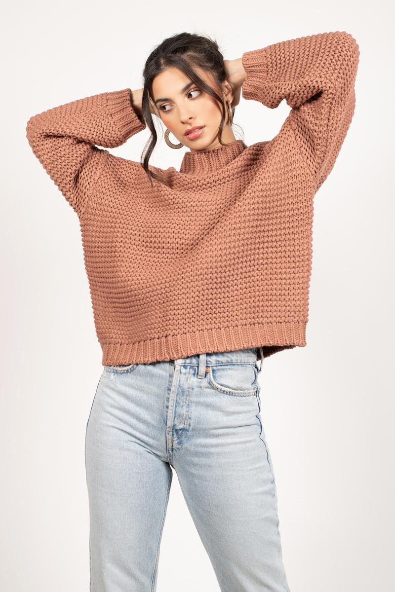 4f7b7d7c904a2b Light Brown Sweater - Slouchy Sweater - Light Brown Chunky Knit ...