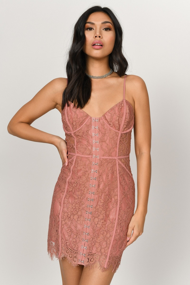 Honeymoon Sienna Lace Bodycon Dress