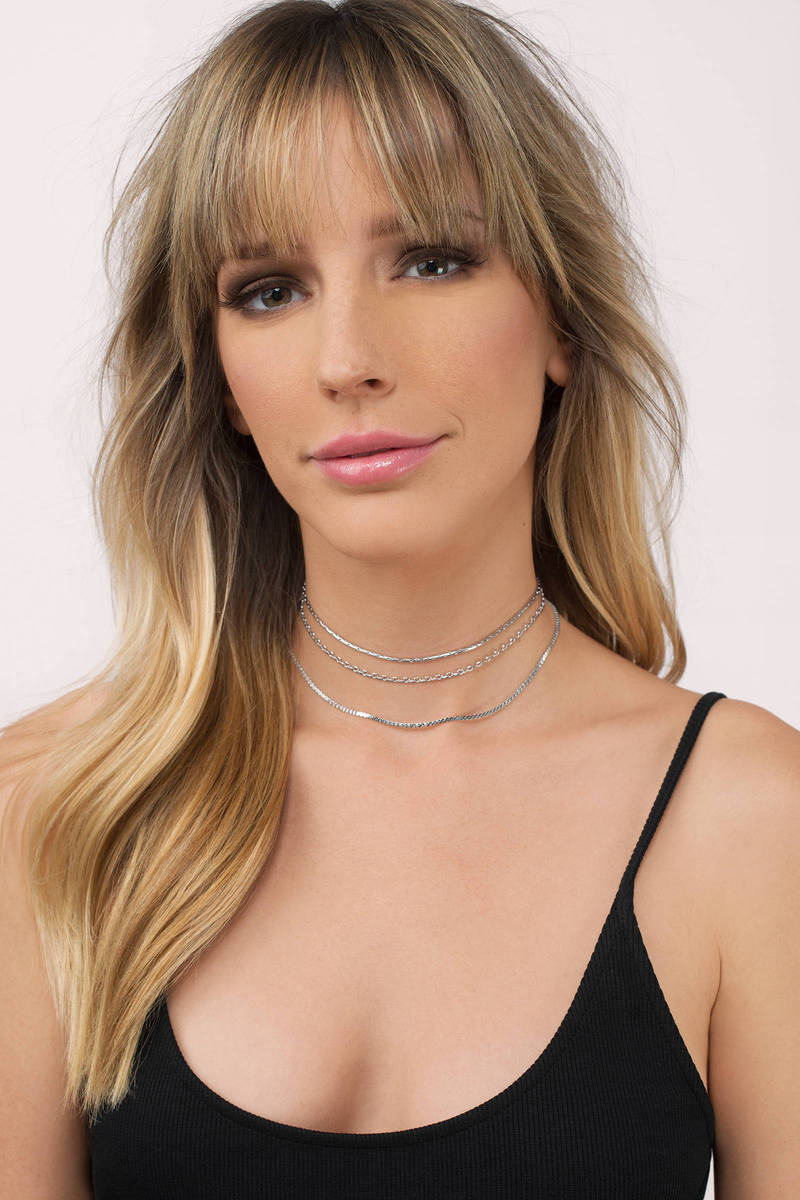 Around The Way Silver Choker Necklace