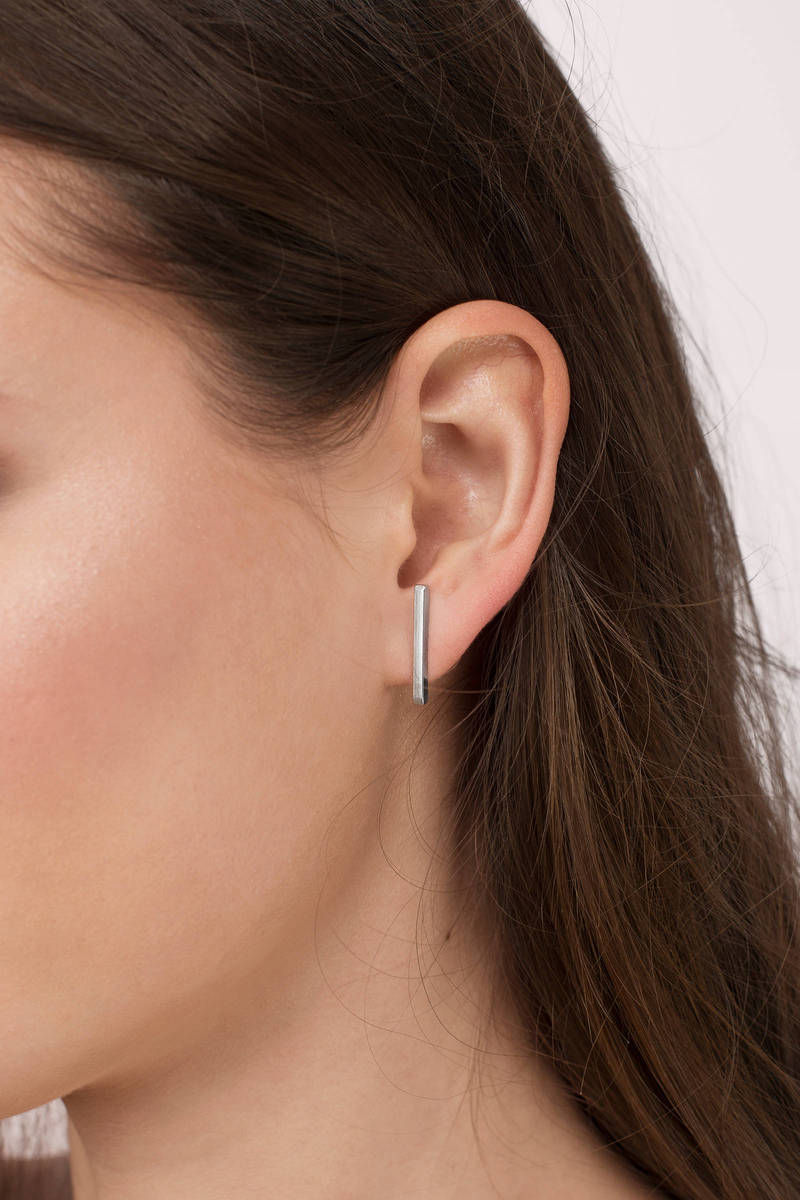 Barred For Life Silver Earrings