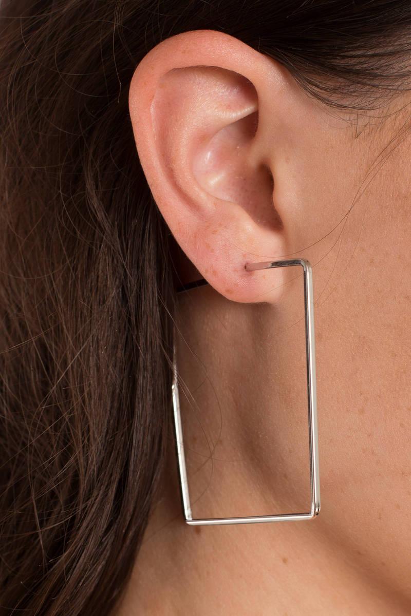 Daniella Statement Silver  Earrings
