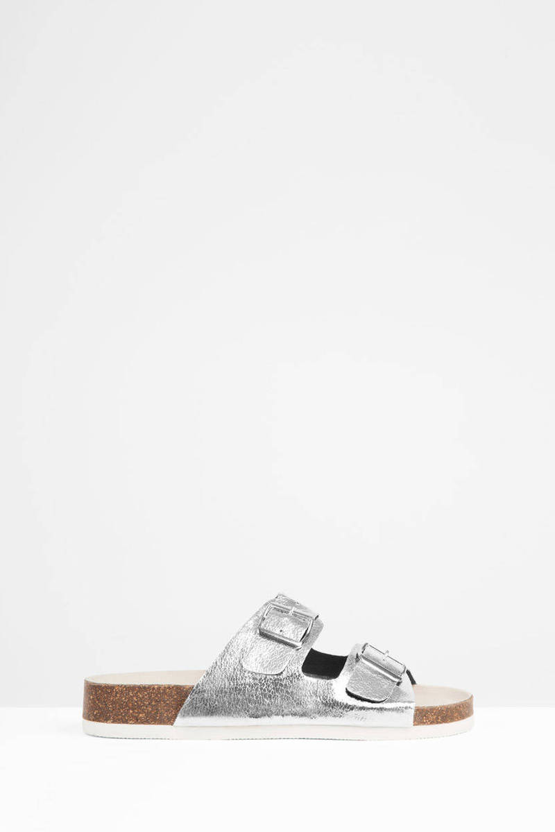 Deco Silver Sandals