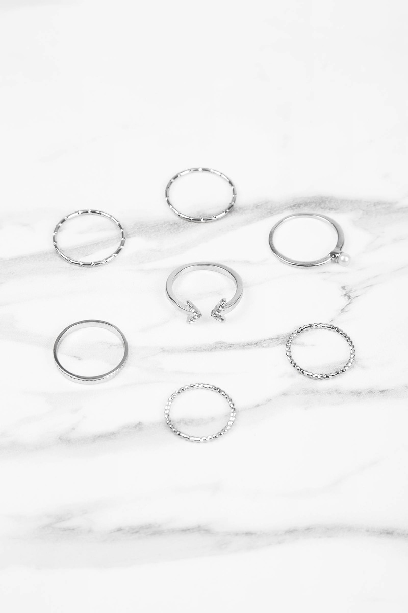 Don't Hate Silver Stack Ring Set