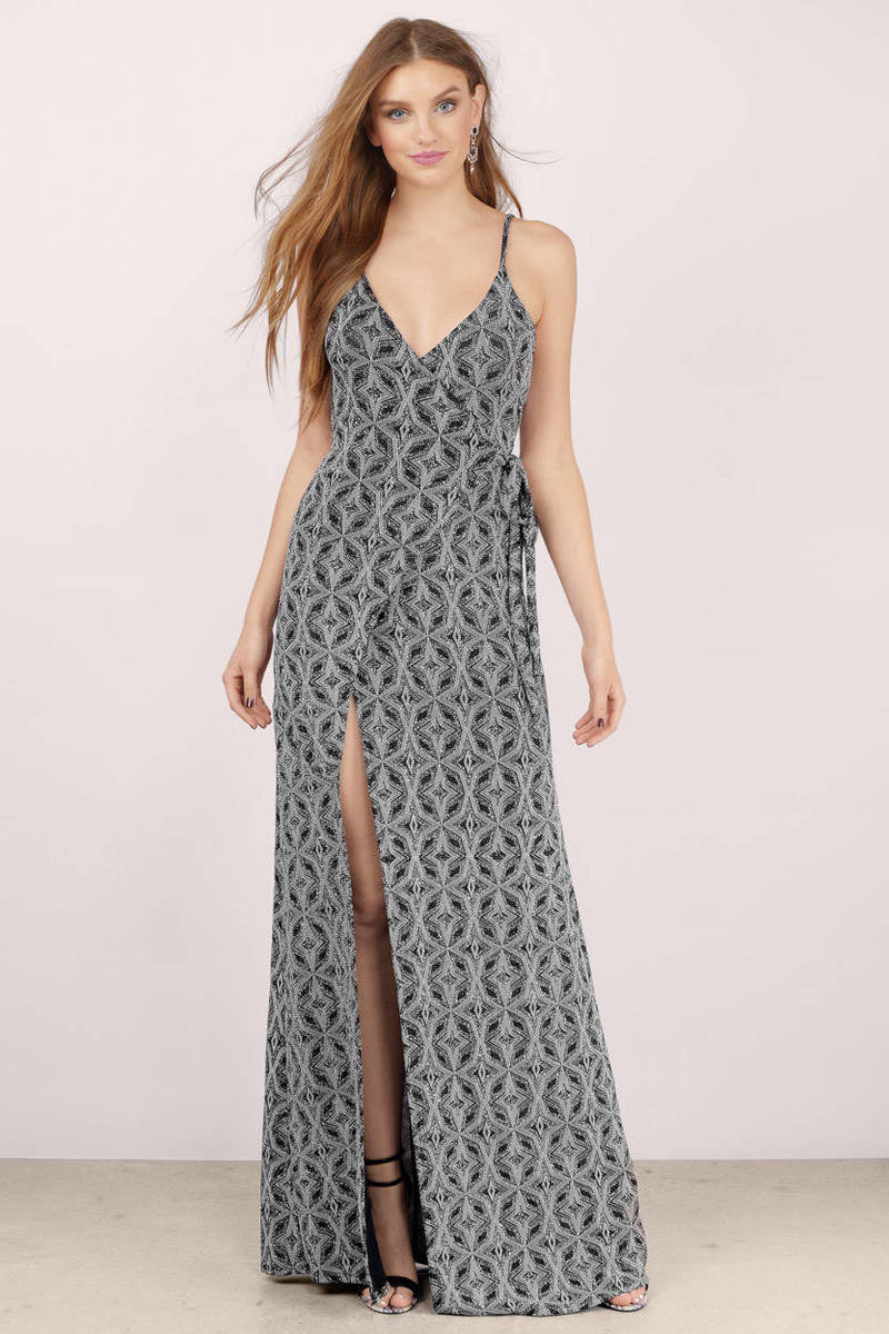 For Sienna For Sienna Goddess Silver Maxi Dress