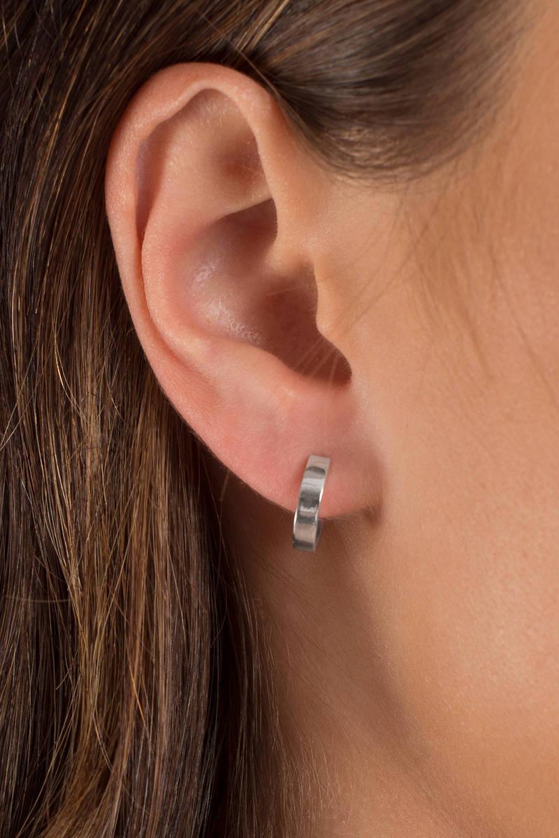 Lorelai Silver Small Hoop Earrings