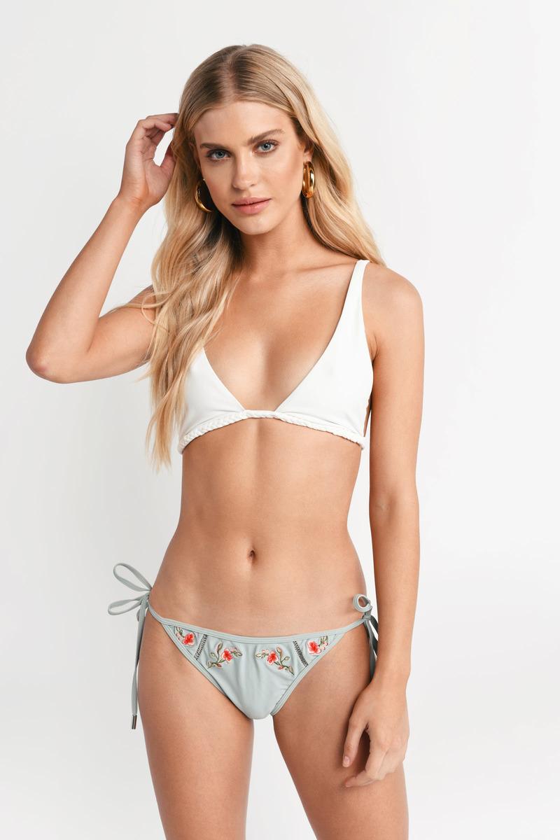 e0eb6c50c68d9 Mint Bikini Bottom - Side Tie Bottom - Mint Embroidered Bottom - £7 ...