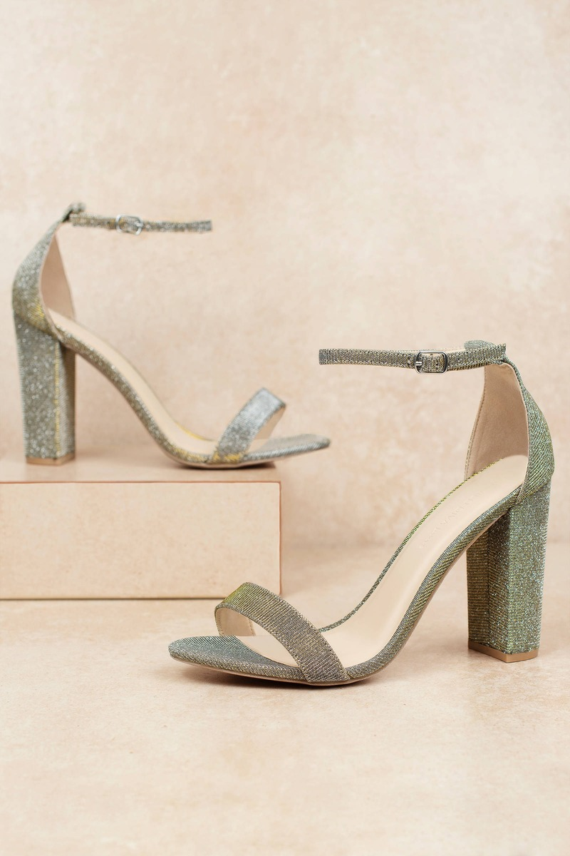 Silver Heels Sparkly Heels Silver Party Heels Cool High