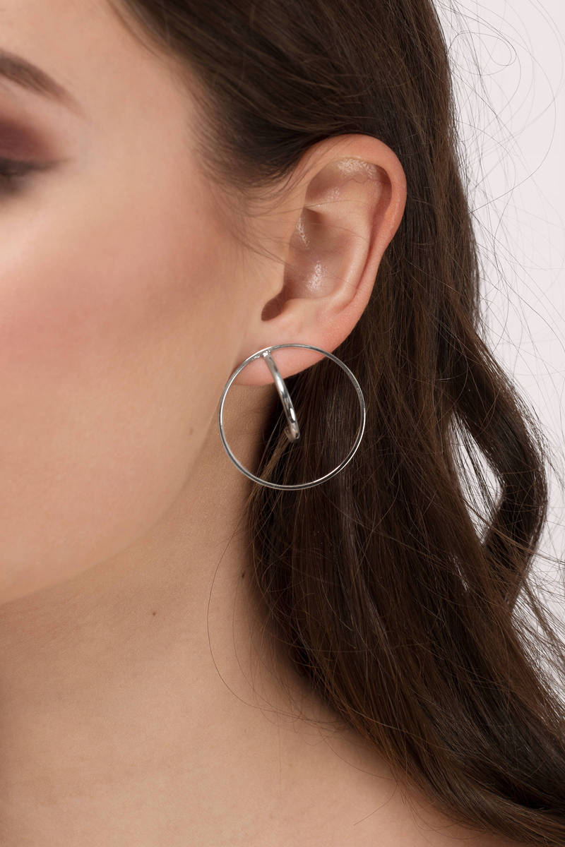No Reason Silver Hoop Earrings