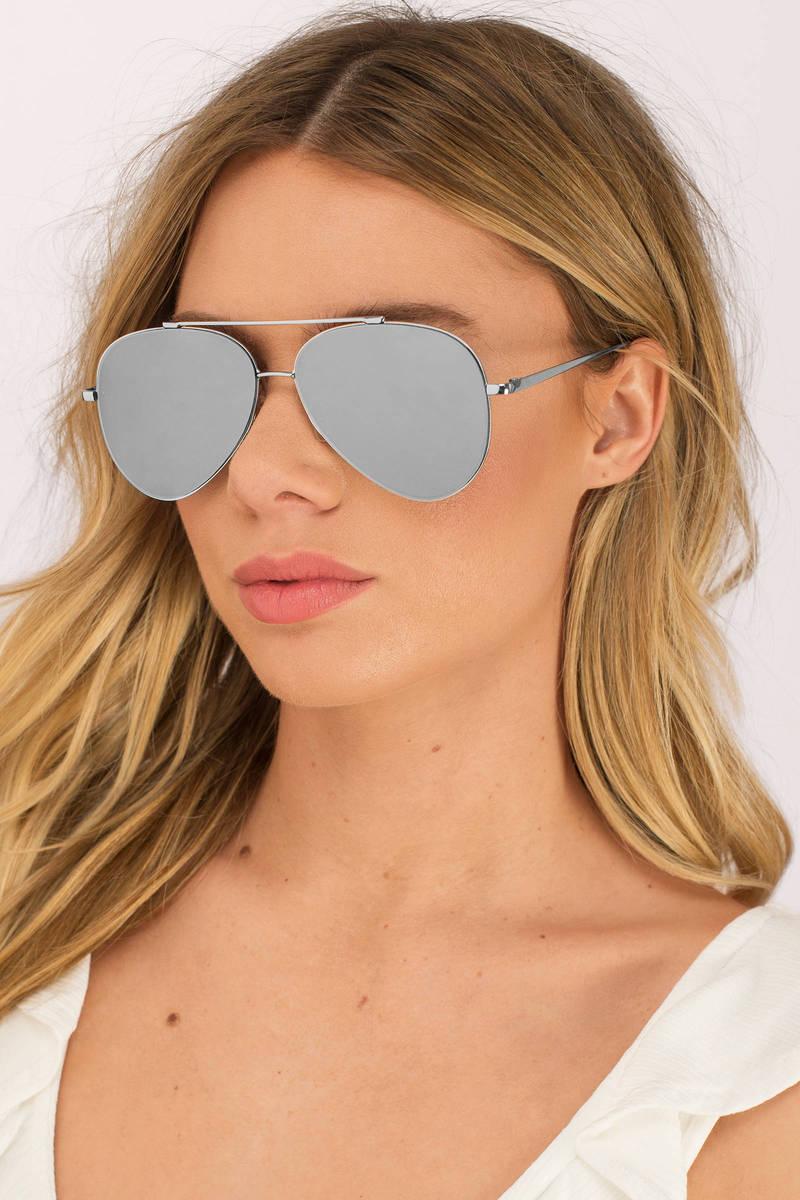 d4fa4f096c Quay - Silver Mirrored Sunglasses - Silver Aviators - Quay Aviators ...