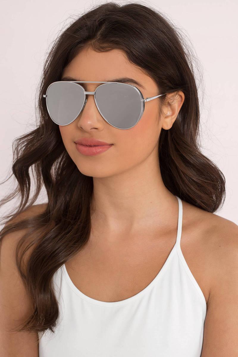 Reflections Silver Aviator Sunglasses