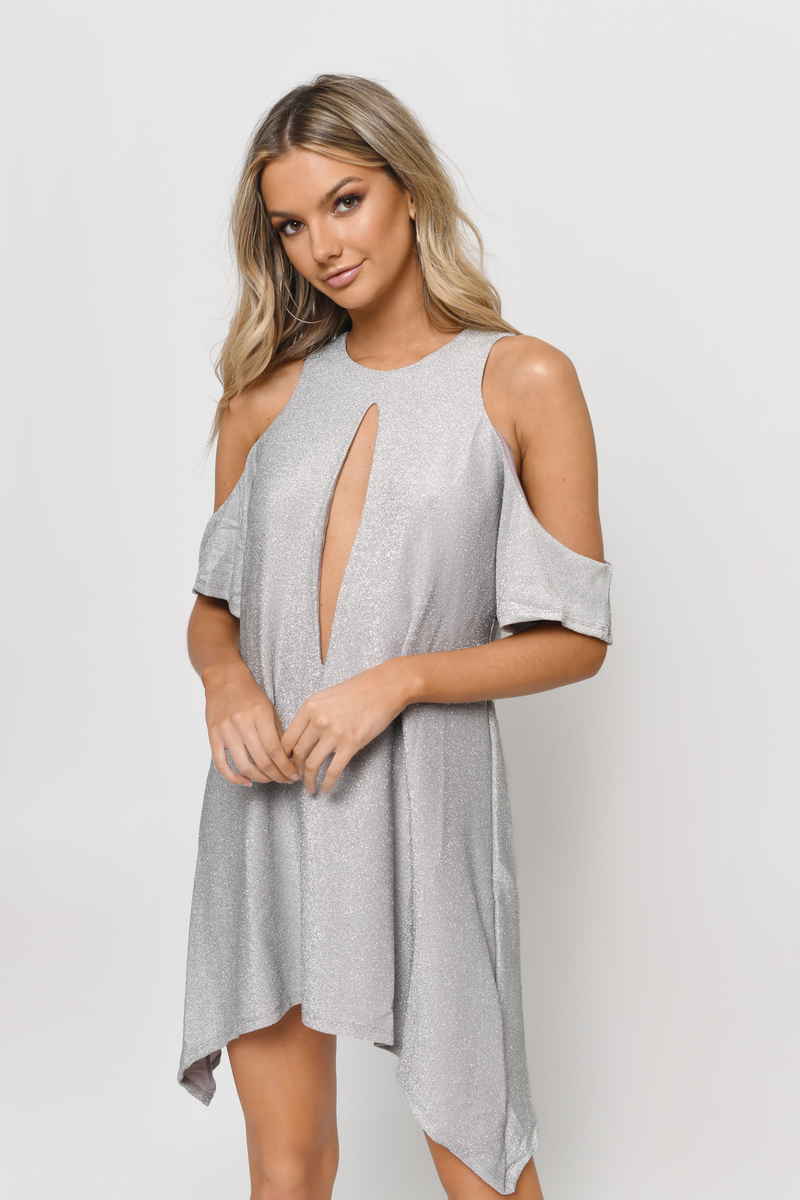 Rhodri Silver Shift Dress