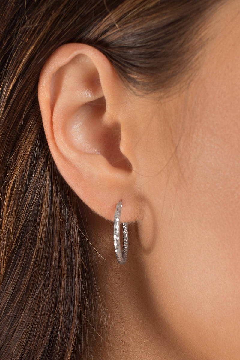 Samantha Silver Double Hoop Earrings