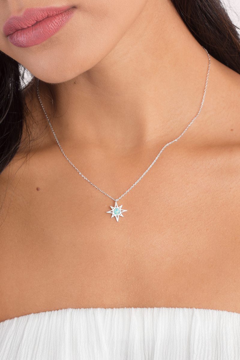 See Through Me Silver Opal Necklace