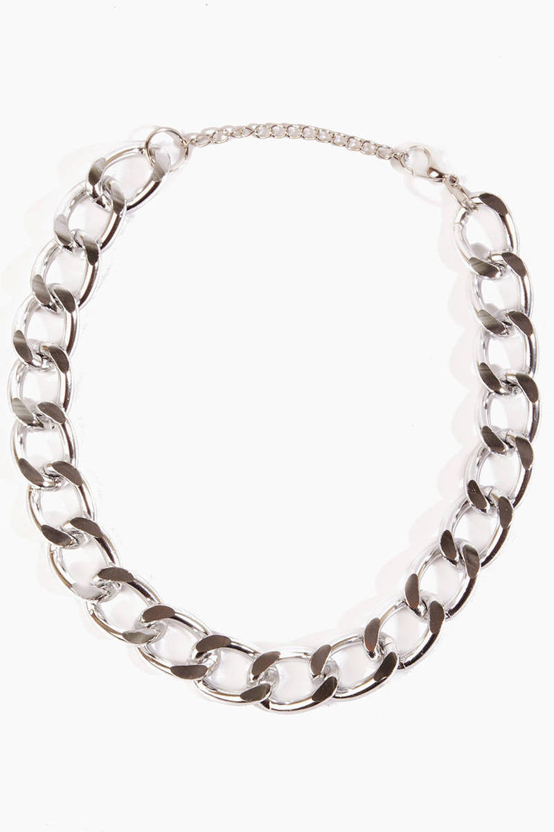 Single Chain Curb Necklace