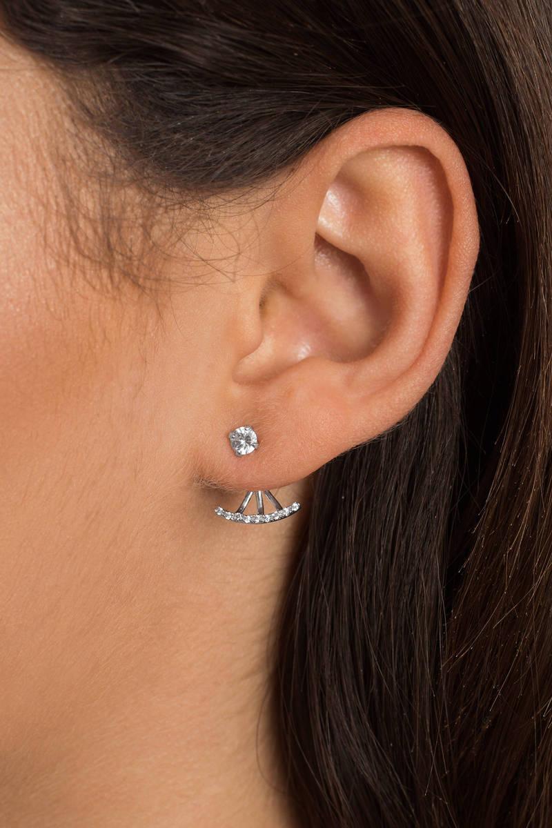 Somerset Silver Rhinestone Earrings