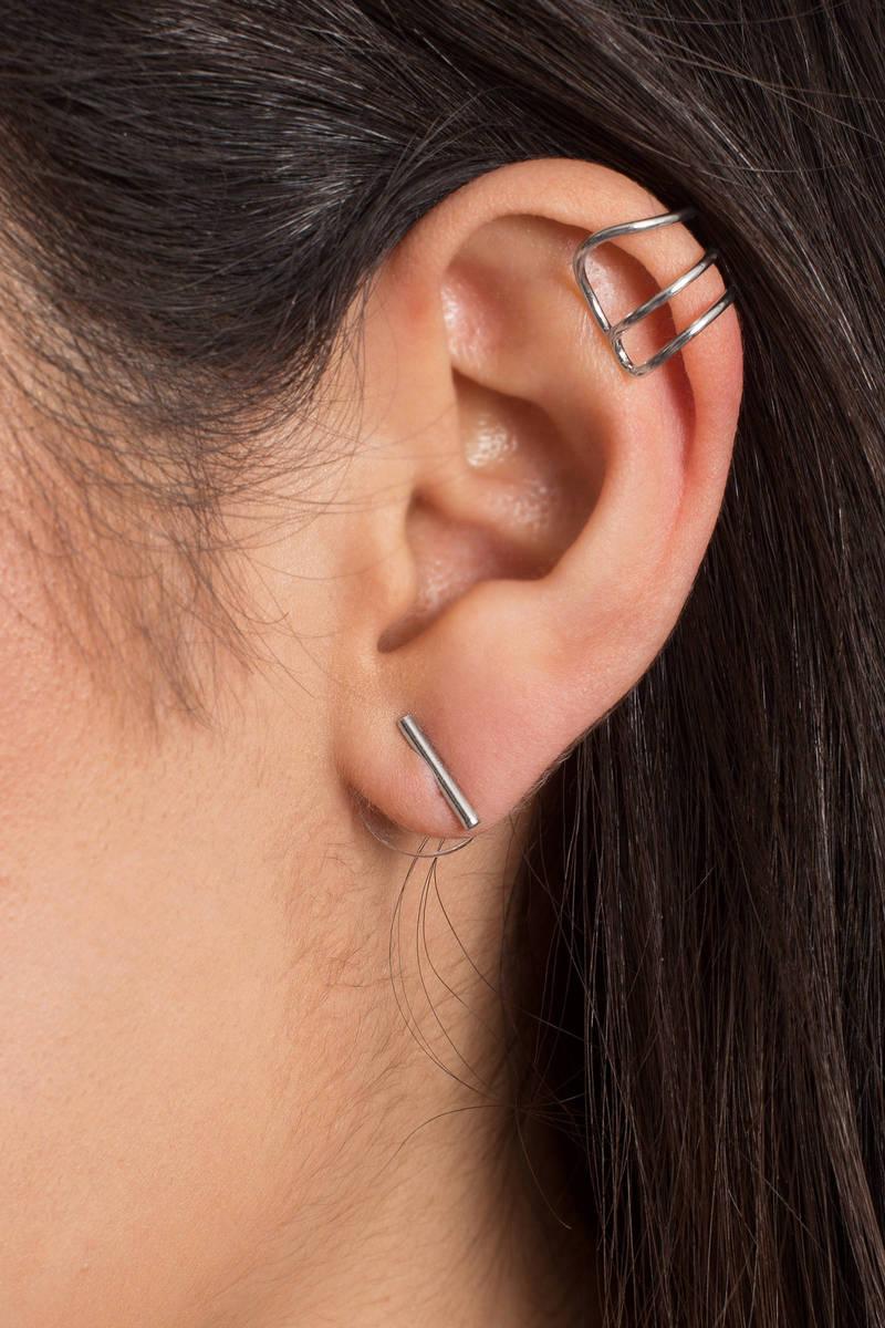 Stella Silver Ear Cuff