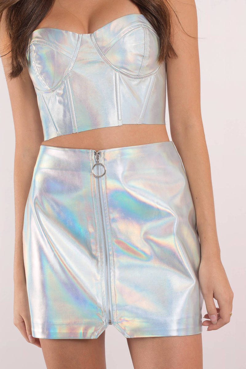 Technicolor Beat Silver O-Ring Skirt