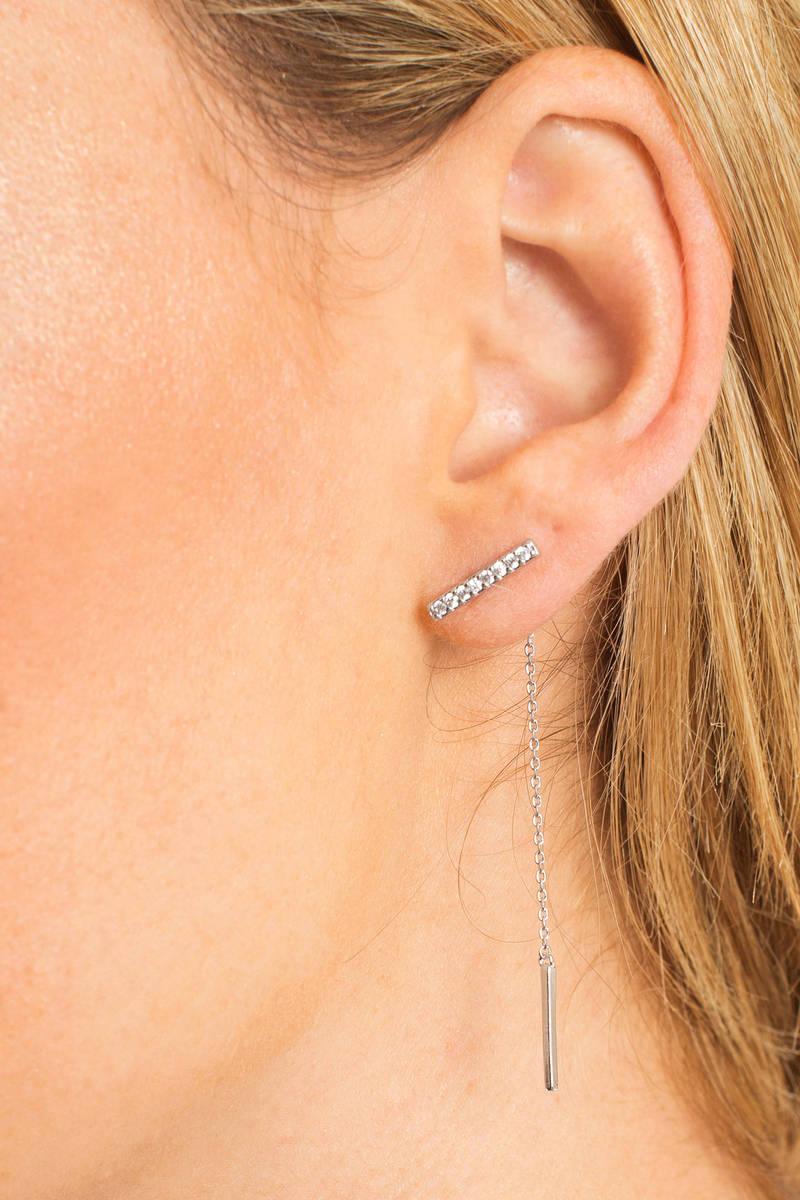 The Clarity Silver Rhinestone Earrings