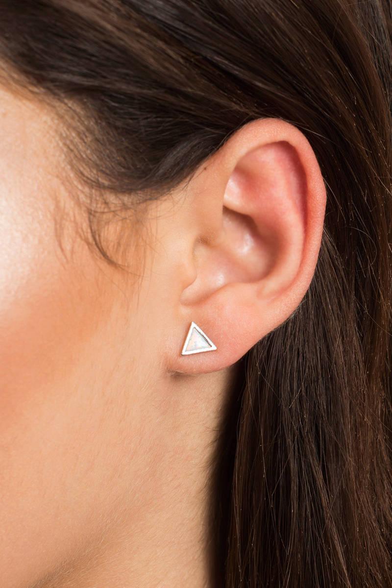 The Rise Silver Opal Earrings