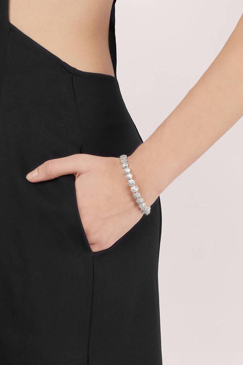Vanessa Mooney Vanessa Mooney The Swan Silver Round Bead Chain Cuff