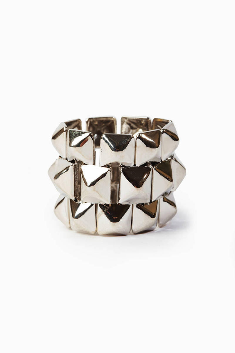 Triple Stacked Pyramid Ring